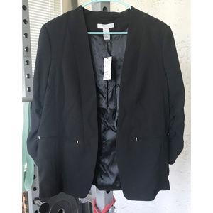 Black Ruched 3/4 Sleeve Blazer H&M BNWT